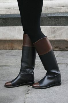 Have been wanting some version of these two-tone boots for some time. Chanel boots