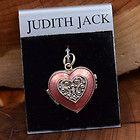 Sterling Silver - JUDITH JACK Enamel Marcasite Heart Locket 8.9g - Pendant KQ422 - 8.9g, ENAMEL, Heart, Jack, Judith, KQ422, Locket, Marcasite, pendant, silver, Sterling - http://designerjewelrygalleria.com/judith-jack/judith-jack-pendants/sterling-silver-judith-jack-enamel-marcasite-heart-locket-8-9g-pendant-kq422/