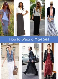 How to Wear a Maxi Skirt- Think Fall in the air