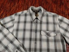 Royal Robbins Andale Plaid Long Sleeve Casual Hiking Shirt Men's Size Medium M…