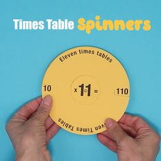 Times table spinners Help kids learn and practice their multiplication tables with this set of Spinners. This is a STEM craft for kids where they create the spinners themselves using our printable template. Such a fun way to practice math! Math Activities For Kids, Math For Kids, Math Resources, Kids Learning, Crafts For Kids, Math Tables, Multiplication Tables, Multiplication Table Printable, Times Tables