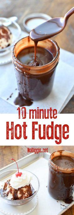 10 Minute Homemade Hot Fudge | http://NoBiggie.net