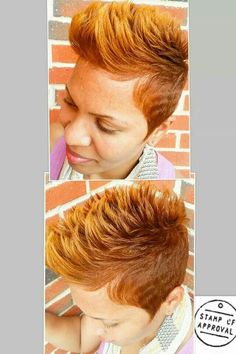 Beautiful cut and color Short Sassy Hair, Short Hair Cuts, Short Hair Styles, Natural Hair Styles, Short Pixie, Pixie Cuts, Natural Beauty, Dope Hairstyles, My Hairstyle