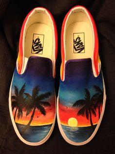 Vans Slip On Shoes, Custom Vans Shoes, Custom Painted Shoes, Painted Vans, Painted Canvas Shoes, Painted Sneakers, Hand Painted Shoes, Me Too Shoes, Canvas Sneakers