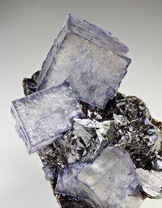 Fluorite with Sphalerite - Gordonsville Mine, Smith Co., Tennessee