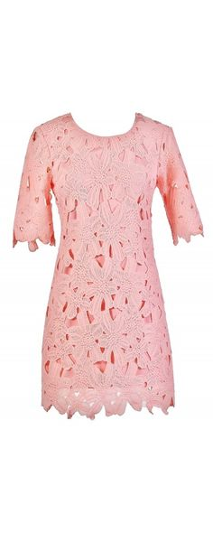 Full Bloom Sheath Dress in Pink  www.lilyboutique.com
