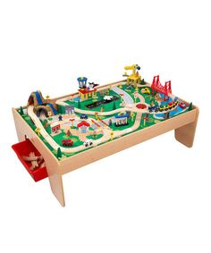 Look what I found on #zulily! KidKraft Waterfall Mountain Train & Table Set by KidKraft #zulilyfinds