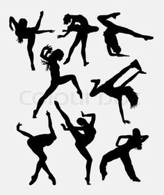 Beautiful dancer performing silhouette. Male and female dance pose. Good use for symbol, logo, web icon, mascot, game elements, mascot, sign, sticker design, or any design you want. Easy to use. | vector_preview_title | Colourbox on Colourbox
