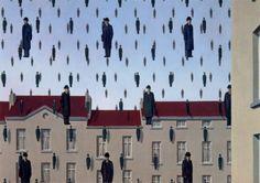 René Magritte, Golconda, 1953, The Menil Collection, Houston, Texas