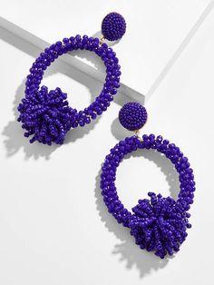 Thumbnail for Ricarda Hoop Earrings Handmade Beaded Jewelry, Beaded Jewelry Patterns, Earrings Handmade, Beaded Rings, Beaded Bracelets, Diy Accessoires, Diy Earrings, Hoop Earrings, Soutache Jewelry