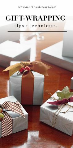 Gift-Wrapping Tips and Techniques | Martha Stewart Living - Say goodbye to Christmas chaos this year. Follow these simple gift-wrapping strategies to give family and friends one-of-a-kind packages this holiday.