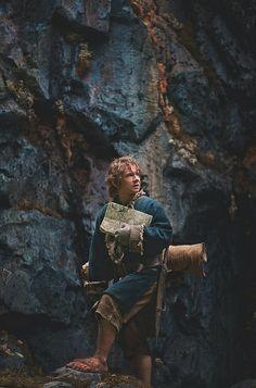 Martin Freeman as Bilbo Baggins in The Hobbit Trilogy Legolas, Gandalf, Tauriel, Jrr Tolkien, Martin Freeman, Baggins Bilbo, Movie Guide, Guide Book, Concerning Hobbits