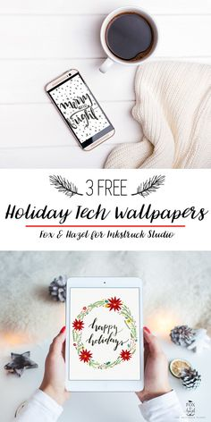 3 Free Handmade Holiday Tech Wallpapesr / Fox & Hazel