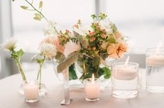 New York City Wedding from Judy Pak Photography Minimal Wedding, Centerpieces, Centrepiece Ideas, Ceremony Backdrop, Boho Bride, Wedding Blog, Wedding Ideas, Reception Decorations, Real Weddings
