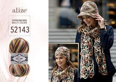 Alize SUPERLANA MAXI MULTICOLOR Chunky wool yarn multicolor