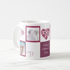 Custom Photo Happy Mother's Day White Classic Mug #mom, #mother, #women. Custom your own #mom, #mother, #women artwork, design, photo, illustration with Personalized Template Office Products. Check out link now https://www.zazzle.com/collections/personalized_template_office_products-119032907632496591?rf=238447938320679240&tc=PersonalizedTemplateOfficeProductsHaloTeePin #Personalized #unique #Template #officeproducts