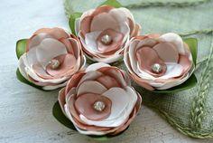 Handgemachte Satin Blume Aufnäher Stoff Blumen Seide von JujaCrafts