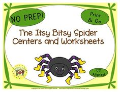 32 The Itsy Bitsy Spider Poster in Color  The Itsy Bitsy Spider Print and Go printables.