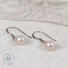 Sterling Silver Pink Pearl 0 9g Dangle Earrings SO7362 | eBay