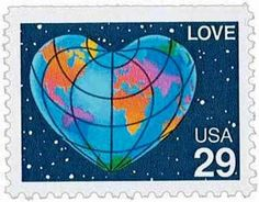 and Love stamps on May in Honolulu, LOVE Heart-shaped World booklet single Scott Catalogue USA: 2536 Heart In Nature, Going Postal, Love Stamps, Stamped Jewelry, Mail Art, Stamp Collecting, Urban Art, Love Heart, Postage Stamps
