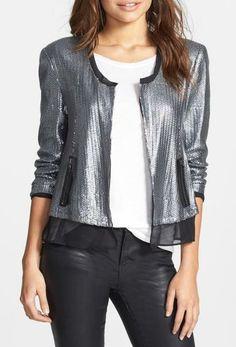 Shiny jacket for the party season.