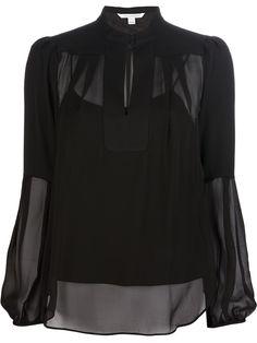 'Isolde' silk blouse - black