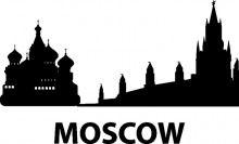 Naklejka na ścianę Moskwa