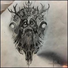 Late night sketchin' some demon Viking King action. Hopefully I get to make this…