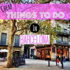 A roundup of the 15 best cheap things to do in Barcelona. It might be an expensi… A roundup of the 15 best cheap things to do in Barcelona. It might be an expensive city, but you can still see it on a budget! Travel Europe Cheap, Backpacking Europe, Spain Travel, European Travel, Budget Travel, Travel Tips, Travel Ideas, Parc Guell, Cheap Things To Do
