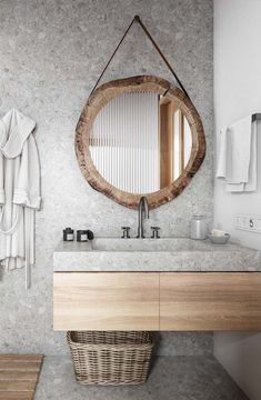 Modern bathroom trends favour light colour schemes, with whites, greys and natural wood tones being the main shades used. Bathroom Counter Decor, Bathroom Cabinets, Modern Shower, Bathroom Trends, Rooms Home Decor, Do It Yourself Home, Modern Bathroom Design, Beautiful Bathrooms, Home Interior Design