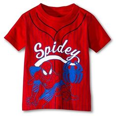 Marvel Little Boys Spiderman Baseball Tee 2T >>> You can find out more details at the link of the image.Note:It is affiliate link to Amazon.