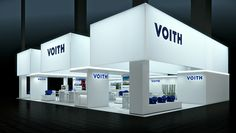 IAA에서 비욘 Radler에 의해 VOITH 부스, 프랑크푸르트 독일 전시 디자인