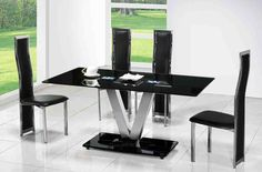 Best Modern Dining Table For High Class Furniture Designs Dining Table Design Office 1555656735 Black Dining Table Set, Round Dining Room Sets, Black Dining Chairs, Round Tables, Modern Kitchen Tables, Glass Dining Room Table, Dining Table Design, Glass Tables, Dining Rooms