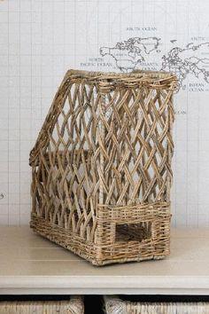 Rustic Rattan File Basket
