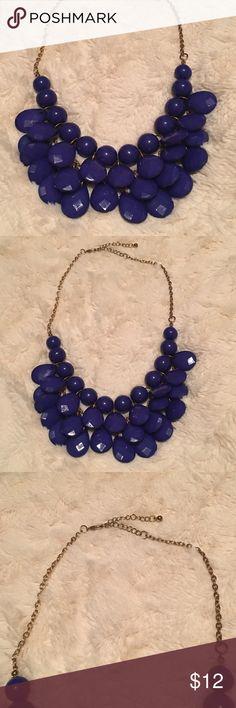 Blue bauble necklace Blue bauble necklace W/ extender Jewelry Necklaces