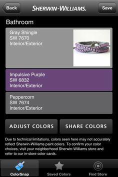 Purple and Grey Bathroom | Purple gray colors for bathroom. :) | idea's for home
