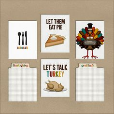 Free Printable Thanksgiving Journal Cards for Project Life from Harper Finch