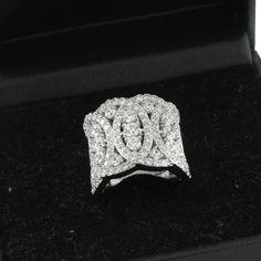 2.80ct VVS1 Round Cut Diamond Interlocking Circles Cocktail Ring  #affinityjewelry #CocktailRing