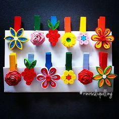 #rinirusliquilling #woodenclip #handmade