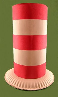 "Make your own ""Cat in the Hat"" Hat. This one is easy, and kids will LOVE it. #RAA #CatinTheHat"