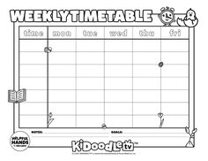 Download and printout your April weekly timetable sheet and have your little ones color them in in their favorite colors! Activity Sheets, One Color, Some Fun, Fun Activities, Little Ones, Favorite Color, Printables, Notes, Tv