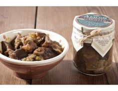 Alicos - Caponata -  with eggplants, peppers, green olives, raisins, pinenuts and tomato bound in a delicate sweet&sour.