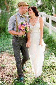 This soft and delicate wedding dress is perfect for the bride and groom's whimsical affair.    Photo:  Ryan Ray