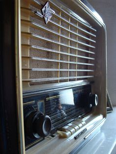 German vintage radio.   I love it, it's mine. I'm not giving it away!