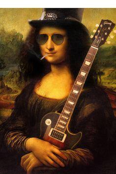 Ilustradores brasileiros fazem releituras da Mona Lisa.