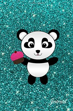 Journal: Faux turquoise glitter cupcake panda notebook by... https://www.amazon.com/dp/1537746081/ref=cm_sw_r_pi_dp_x_Cs3byb73N26RQ