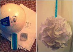 Multipurpose DIY Pom Pom Mobile/Chandelier Project for Baby's Room, Bedroom, Wedding, Bridal Showers, Baby Shower Parties etc.     How to make a Felt Pom Pom Bouquet