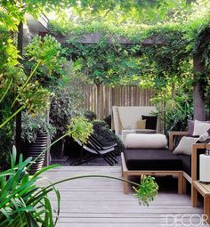 Going Green...  Interior and landscape designer Marcel Wolterinck framed the secluded garden of his home in the suburbs of Amsterdam with a Pergola trained with Wisteria ...