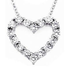 Round Diamond Heartline Pendant