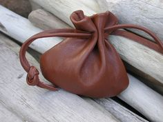 Leather Drawstring Pouch Bag  Small Bag  Jewelry Pouch
